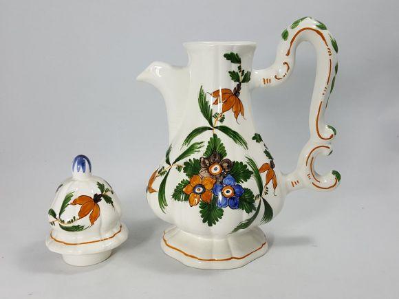 Ceramiche Barettoni Nove - CAFFETTIERA IN CERAMICA DECORATA A MANO STILE SETTECENTO