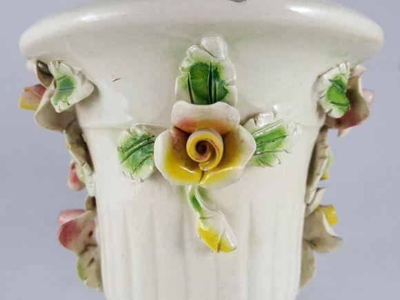 Ceramiche Barettoni Nove - COPPIA LAMPADE IN CERAMICA ANTICA INIZIO NOVECENTO ANTIQUARIATO VINTAGE