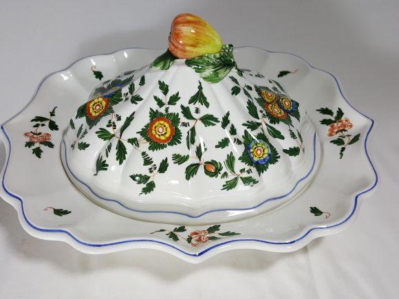 Ceramiche Barettoni Nove - LEGUMIERA, RISOTTIERA, VASSOIO CON COPERCHIO IN CERAMICA
