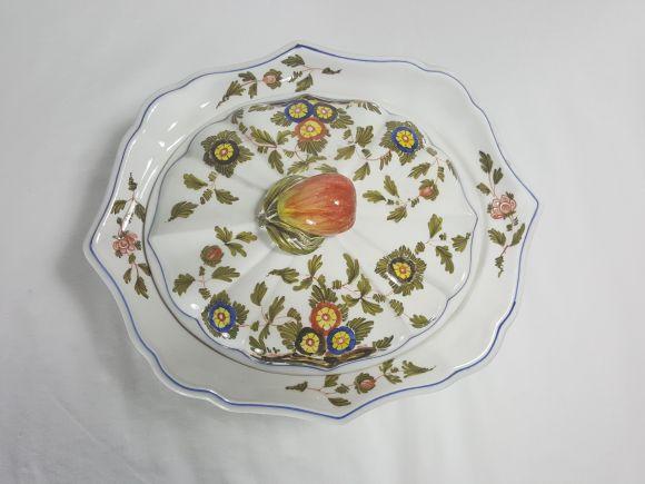 Ceramiche Barettoni Nove - BOMBONIERA IN CERAMICA DECORATA A MANO, PEZZO UNICO