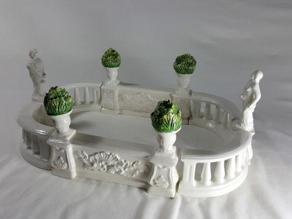 Ceramiche Barettoni Nove - CENTROTAVOLA GIARDINETTO ALL'ITALIANA IN CERAMICA