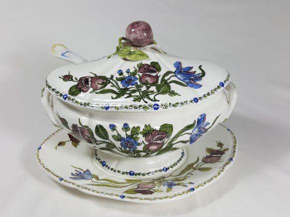 Ceramiche Barettoni Nove - ZUPPIERA IN CERAMICA ANTICA DEL NOVECENTO ANTIQUARIATO VINTAGE