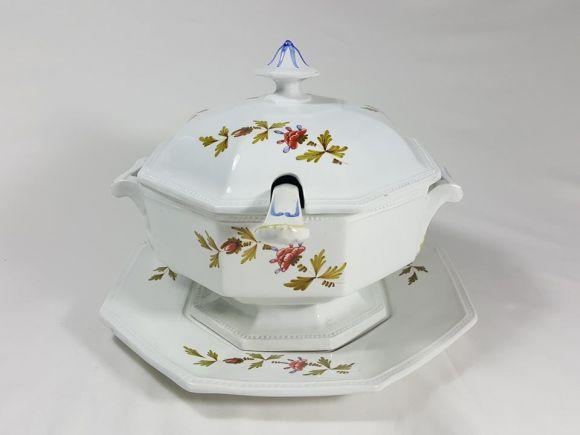 Ceramiche Barettoni Nove - T608 - ZUPPIERA DECORO BLANSER
