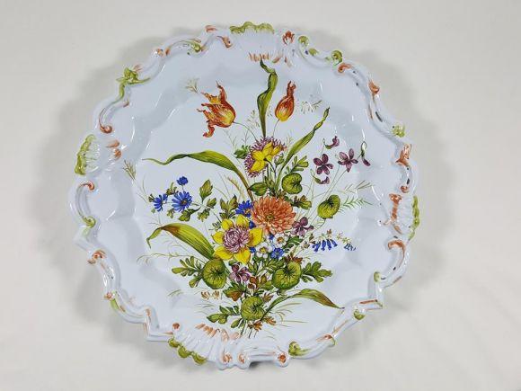 Ceramiche Barettoni Nove - U105 - GRANDE PIATTO IN MAJOLICA