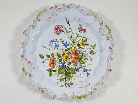 Ceramiche Barettoni Nove - U104  - GRANDE PIATTO IN MAJOLICA
