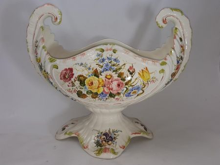 FURNISHING AND ORNAMENTAL VASE IN CERAMIC WITH DECOR FIORI NOVE