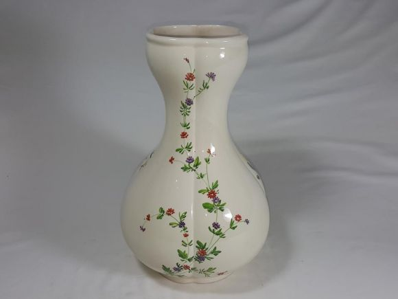 Ceramiche Barettoni Nove - ANCIENT CERAMIC VASE, ANTIQUE VINTAGE OBJECT DECORATED WITH FIORI NOVE