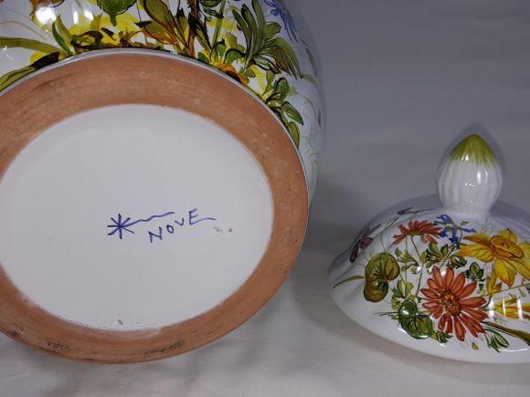 Ceramiche Barettoni Nove - VASO IN MAIOLICA ANTICA DEL NOVECENTO, PEZZO UNICO