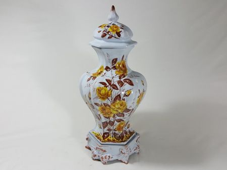 VINTAGE BIG VASE IN MAJOLICA OF THE SECOND HALF OF TWENTIETH CENTURY