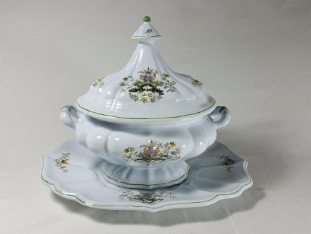 "VINTAGE MAJOLICA SOUP TUREEN, DECOR DECOR ""PONTICELLO"""
