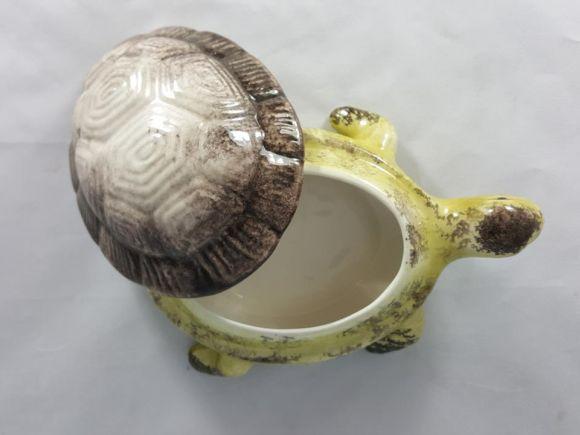 Ceramiche Barettoni Nove - CONTENITORE IN CERAMICA A FORMA DI TARTARUGA