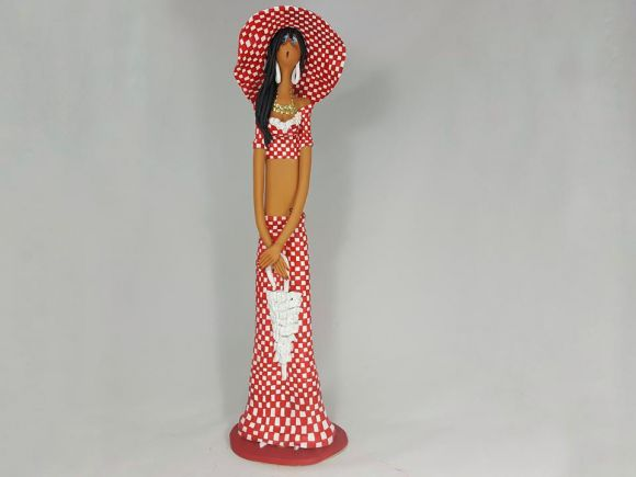 Ceramiche Barettoni Nove - CREAZIONI ROBERTA: BAMBOLA IN CERAMICA FASHION STILIZZATA DI DESIGN PEZZO UNICO