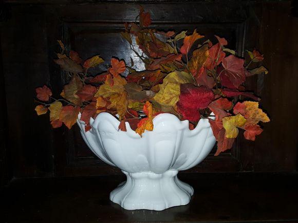 Ceramiche Barettoni Nove - FRUTTIERA IN CERAMICA BIANCA
