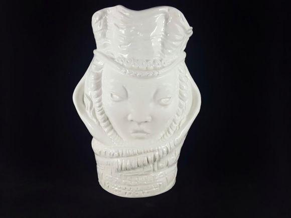 Ceramiche Barettoni Nove - VASO BIANCO IN CERAMICA MODERNO