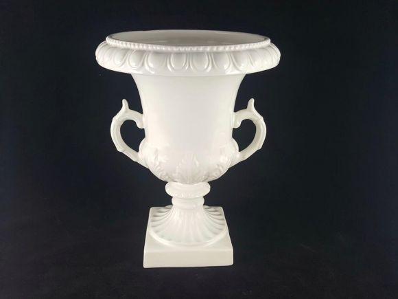 Ceramiche Barettoni Nove - VASO MEDICEO IN CERAMICA BIANCO