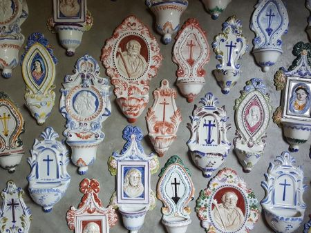 CERAMIC HOLY WATER STOUPS