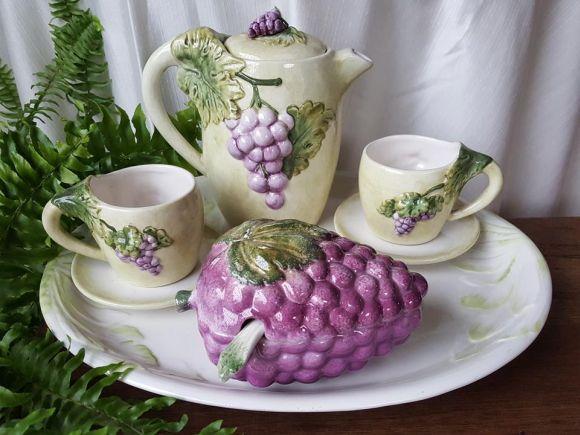 Ceramiche Barettoni Nove - TAZZINE IN CERAMICA DA CAFFE' SERVIZIO PRIMA COLAZIONE