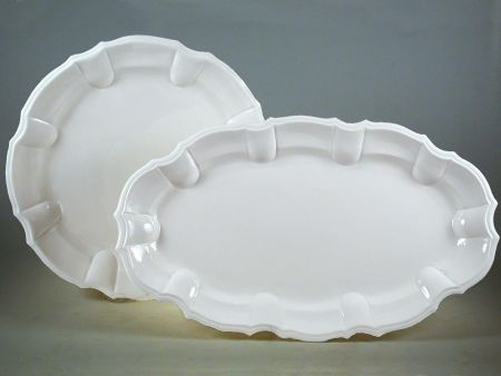 LARGE PLATES AND TRAYS IN CERAMIC WHITE NOVE FOR THE TABLE