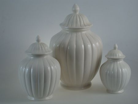 CLASSIC VASES IN WHITE CERAMIC, INTERIOR ORNAMENTS AND FURNISHINGS