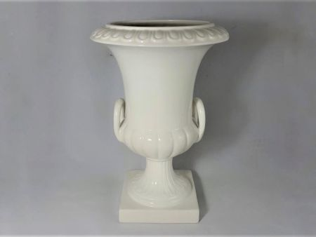 MEDICEO WHITE CERAMIC VASE MADE BY HAND