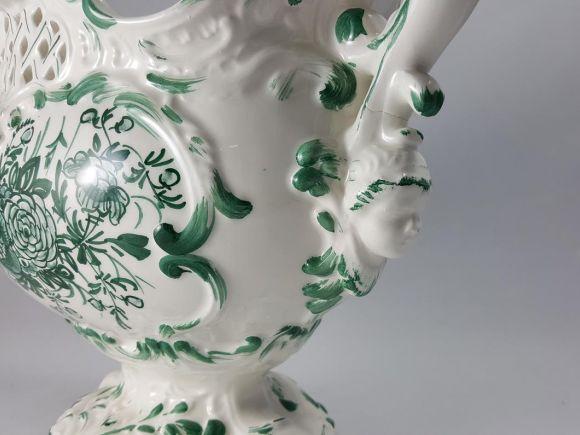 Ceramiche Barettoni Nove - COPPA IN CERAMICA DECORATA A MANO PEZZO UNICO