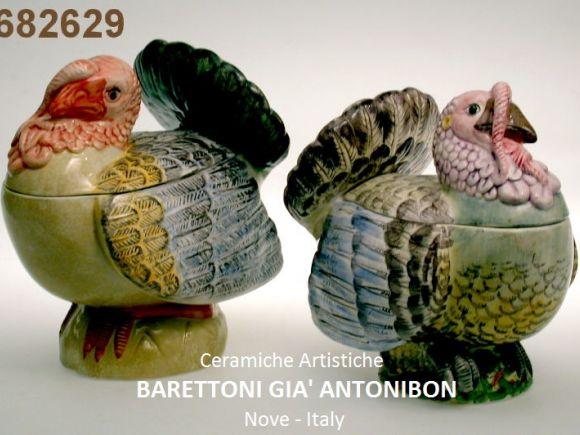 Ceramiche Barettoni Nove - ZUPPIERE A TACCHINO E TACCHINA IN CERAMICA