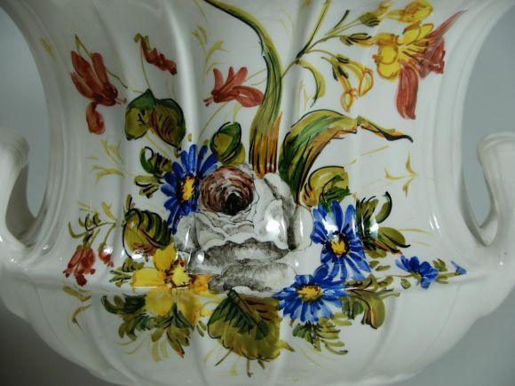 Ceramiche Barettoni Nove - COPPIA DI VASI IN CERAMICA ANTICA DEL NOVECENTO ANTIQUARIATO VINTAGE