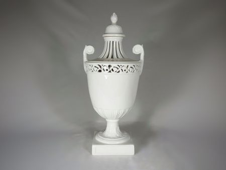 VASES IN WHITE CERAMIC, INTERIOR ORNAMENTS AND FURNISHINGS, EMPIRE STYLE