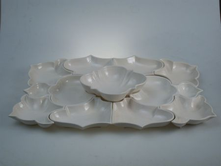 HORS D'OEUVRES SET IN CERAMIC, COMPOSITION FOR BUFFET AND APERITIFS OF 11 PIECES