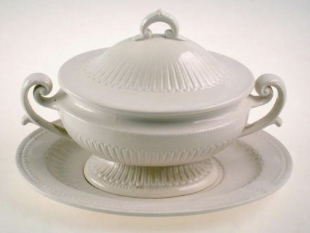 WHITE CERAMIC SOUP TUREEN EMPIRE STYLE