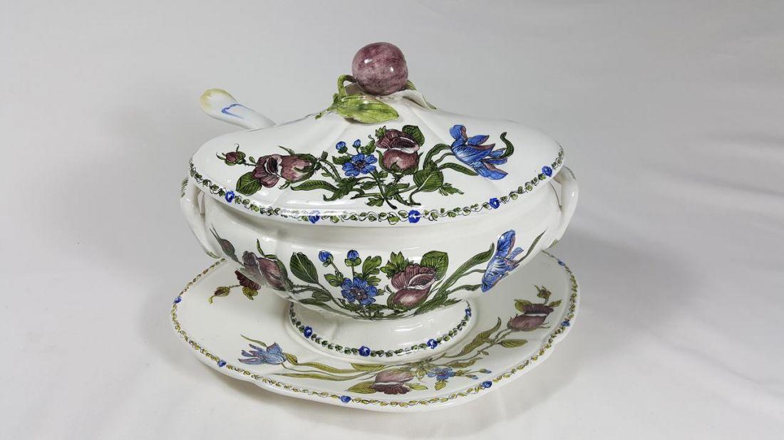 Lampada da tavolo vintage in ceramica di kaiser leuchten in